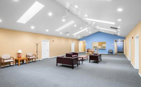 Common area with chairs and tables