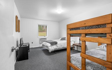 Full room with bunk beds